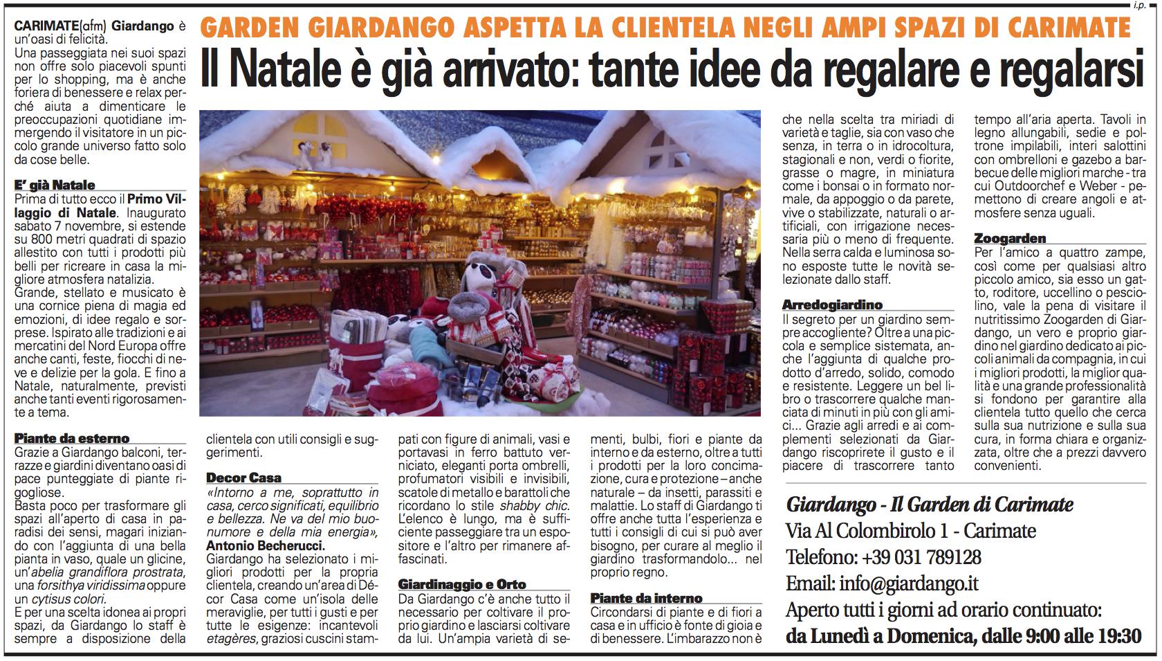 Villaggio di Natale Giornale di Seregno